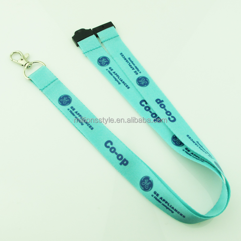 Customized Advertising Polyester Detachable Keycords, Lanyards, Neck Strap