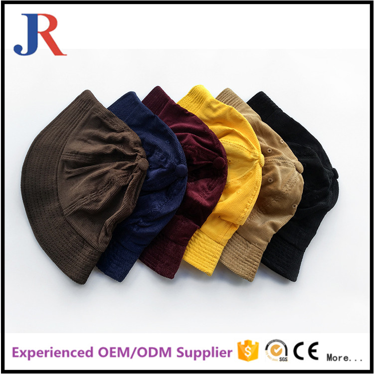 wholesale high quality colorful kids winter cheap corduroy blank cap hats and caps