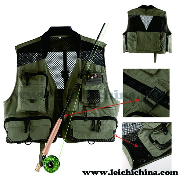 Classic padded collar fly fishing vest