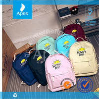 Sunny Day Solid color Cheap Backpack Canvas School Bag