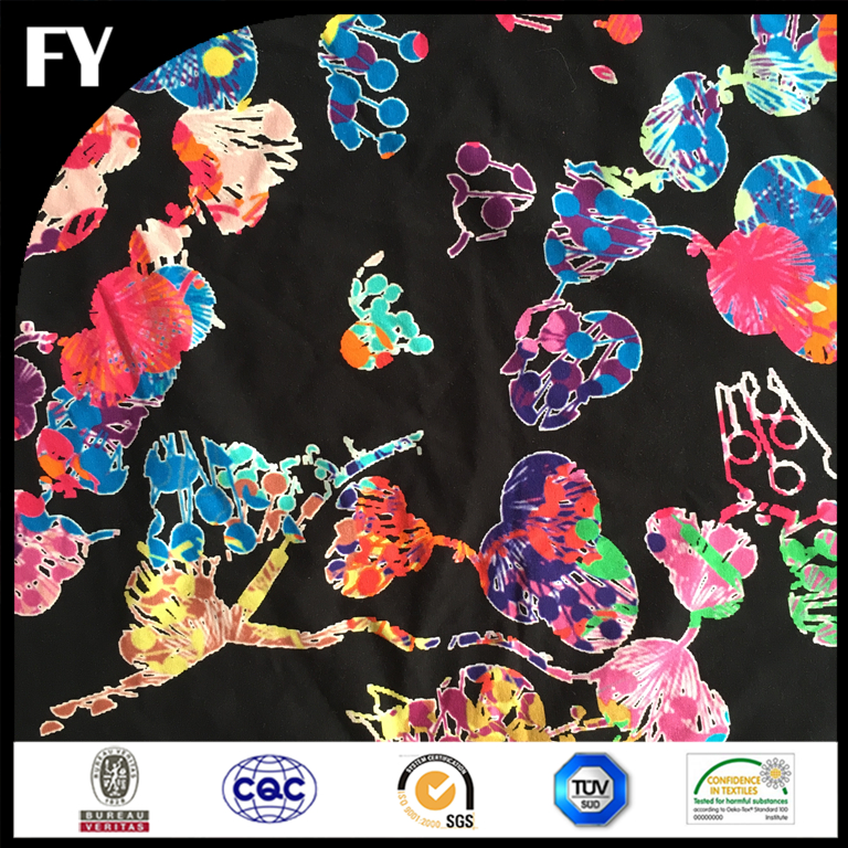 factory direct digital printed 95% cotton 5% spandex knitted fabric