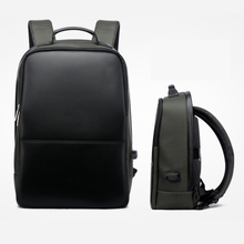 2017 New product fashion anti theft leather laptop backpack bag with USB for travel