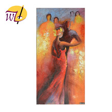 Modern A Couple Tango Dancing Oil Painting for Wall Arts on the surrealistic painting