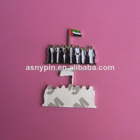 souvenir 43 UAE national day metal sticker, 43 UAE coat of arm fridge magnet,United Arab Emirates 43 National Day metal plate