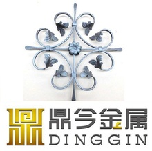 forged steel ball/wrought iron gate accessories/wrought iron leaves