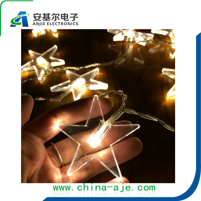 10M 50 LED Lucky Star Shaped String Lights for Party Wedding Christmas Garland patio Window Decoration Outdoor decorative lights