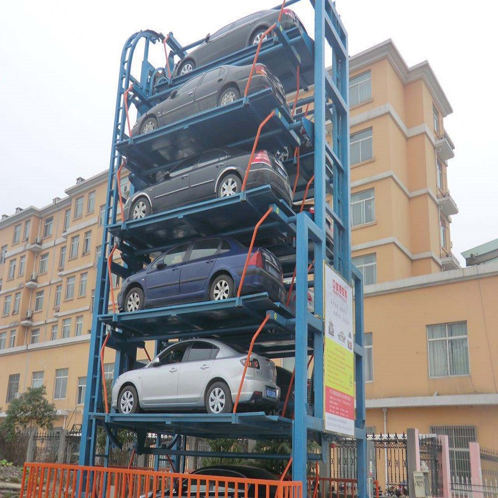 8 cars Standard Vertical rotary automated Smart Tower car lift parking system
