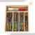 Colourful ABS Handle Laguiole table ware dining cutlery set of 34