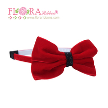 Boutique hair accessories for girls beautiful velvet ribbon bow headband