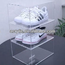 simple top class clear acrylic shoe display case