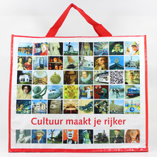 Wholesale customized recycled pp woven trolley shopping bag