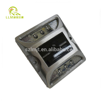 Aluminum cast solar road studs/solar powered surface mount cats eyes/ solar pavement markers