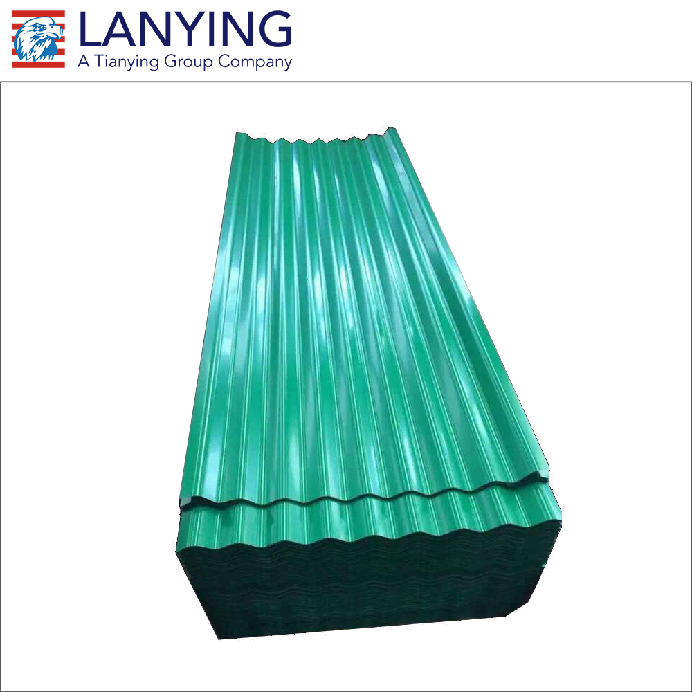 Corrugated PPGI steel / metal / iron roofing sheet in RAL color