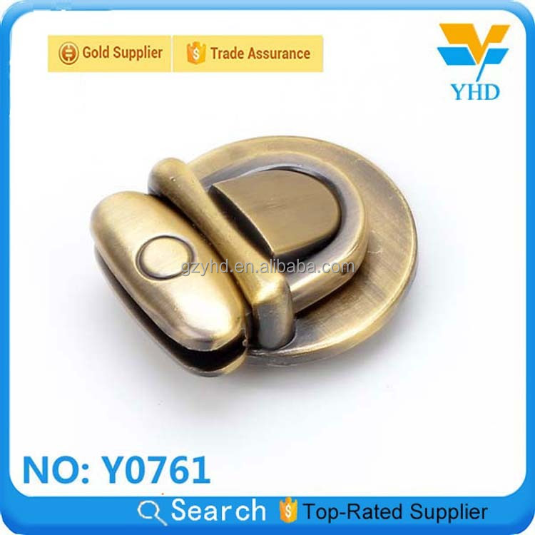 customized luggage bag metal turn bag clasps lock
