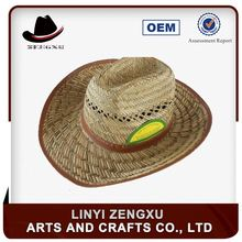 Factory supply flashing crazy selling funny straw cowboy hat