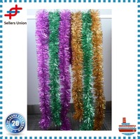 Top Quality 2 Meter Christmas Xmas Tree Party Tinsel Rose Pink Green Silver Gold Red Blue Decorations