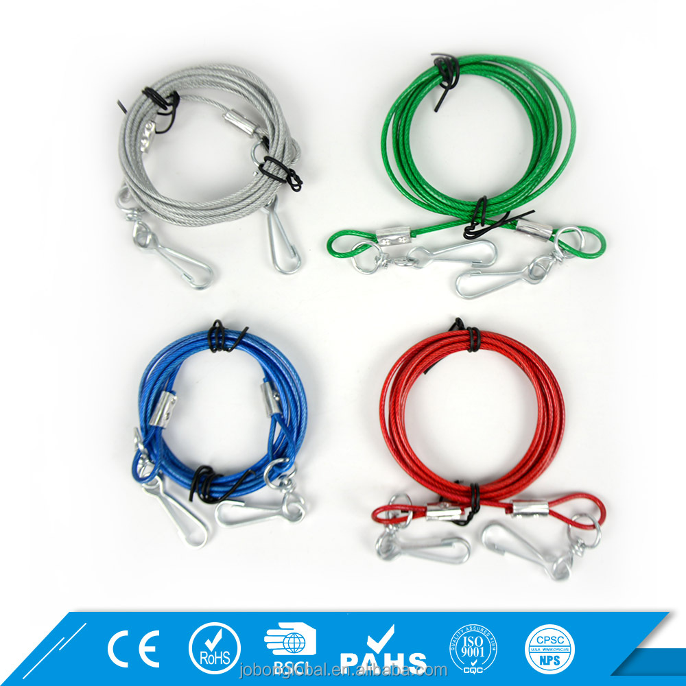 Strong Chain Leash Comfortable Wire Rope Dog Tie Out Cable