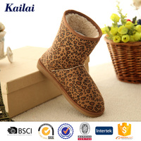 Leopard winter mukluk warm indoor boots for women