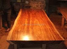 African big zebra slab table/solid wood dining table/wooden furniture