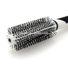 Hot Sell Hair care & styling plastic handle material ceramic round hair brush black rubber costing hair straightening brush