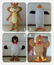 high quality penguin adult animal costume cock adult mascot costume squirrel adult mascot costume for sale