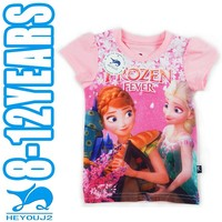 girls shirts baby garment custom printed t-shirt