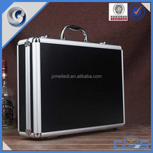Black professional aluminum barber best quality japanese style money storage case