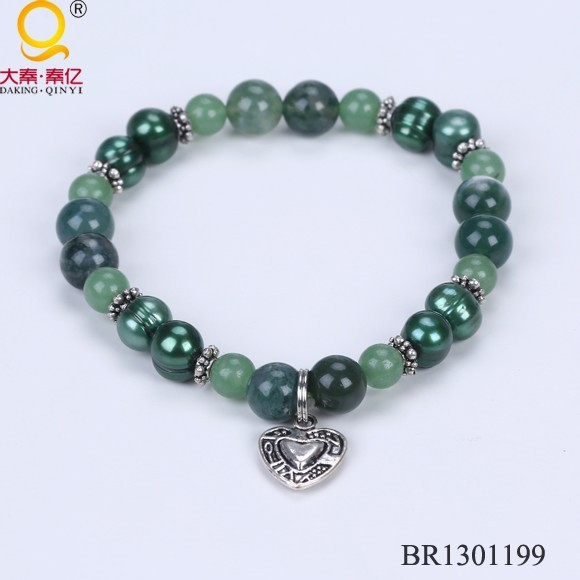 pearl and stone beads fashion bracelet