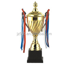 Golden metal world cup soccer trophy
