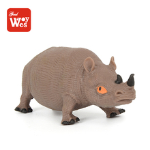educational toys rhino model tpr rubber wild toy animal for kids