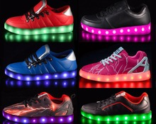 HOT SALES low MOQ chargeable LED go glo led sneakers shoes