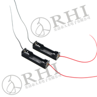 1* AAA battery holders , aaa Battery holder with lead wires