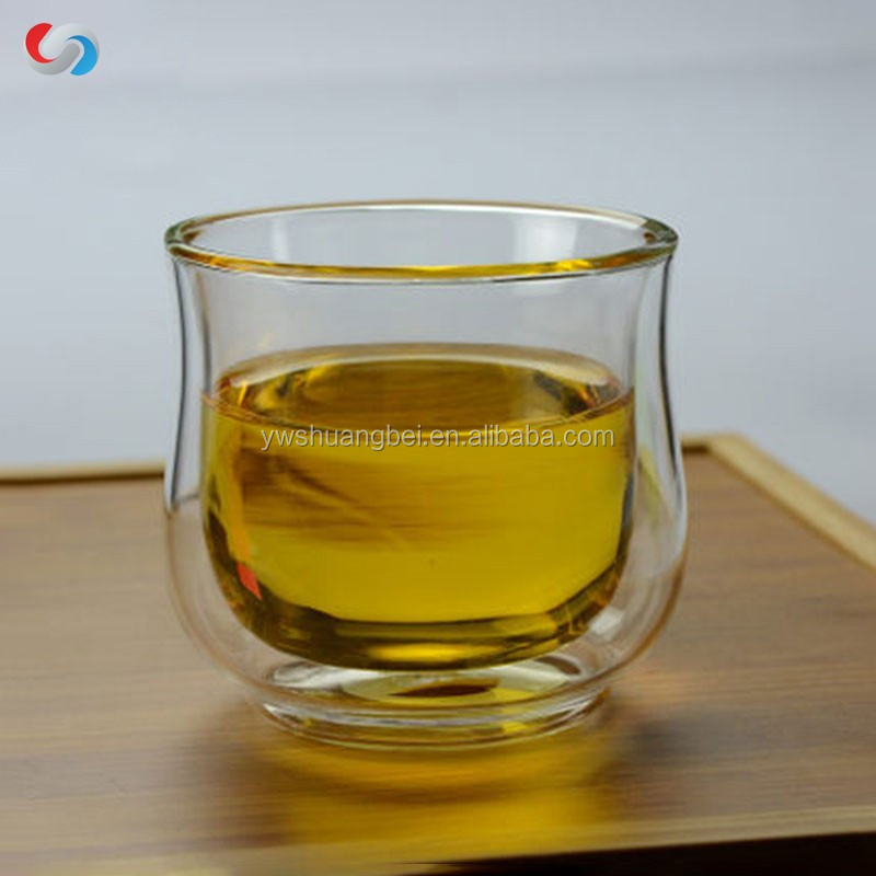 Eco-friendly hot sale clear double wall tea glass cup without handle good for home,office