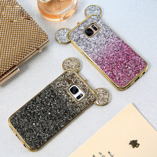 Phone Cases For iPhone 5 5s 6 6s 6 Plus 7 7 Plus Fashion 3D Mickey Mouse Cover Case For Samsung S6 S6 Edge S7 S7 Edge