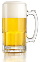 34oz 1 liter German Style Extra Large Glass Beer Mugs with handles