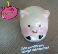 animal candle pig candle