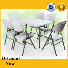 factory price heavy duty blow mold folding table and chairs set, plastic folding table