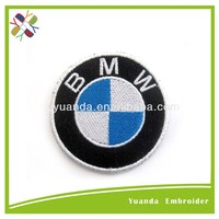 Customized embroidery designs patch car emblem and letter