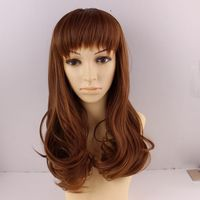 Cosplay Party Long Natural Straight Wigs Fashion Wigs with Bangs Heat Resistant Fiber Wigs