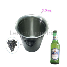 Stainless Steel Champagne Red Wine Wine Cooler Ice Bucket With Grape Shape Handle
