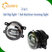 2*Car 15w LED DRL best Driving Daylight Fog Light daytime running light Lamp with angle eye