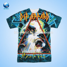 Big World OEM service short sleeve 3D sublimation printing 100 polyester t shirt softextile
