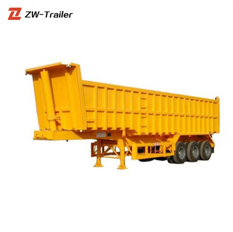 3 <strong>Axle</strong> 12 <strong>Wheels</strong> Hydraulic LIfting End Dump Semi Trailer For Sale