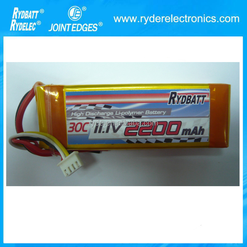 High Discharge Rate 30C Li-ion Polymer Rechargeable Battery for Transmitters / RC Boat OEM