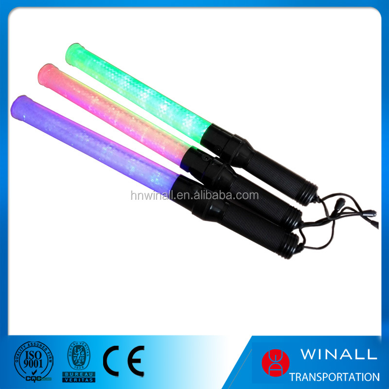 540mm led traffic baton abs material torch flashlight police wands