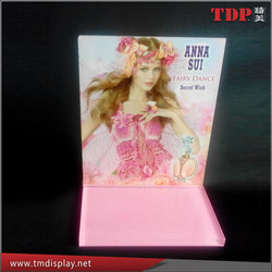 acrylic table display Pink acrylic disply with silk printing acrylic display POP display
