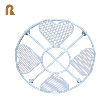 Wholesale Round Shape Iron Wire Round Hot Pot Mat,Metal Hotproof Mat for Kitchen