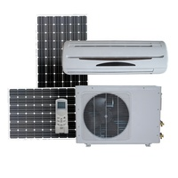 100% off grid solar power air conditioner in hybrid solar air conditioners dc 48v 9000Btu 12000Btu 18000Btu 24000Btu