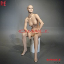 Sexy lifelike female sitting lingerie mannequin