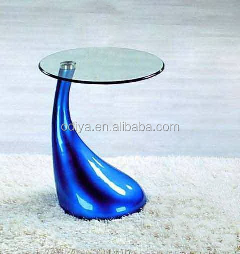 2015 fiberglass glass mushroom shaped small modern coffee table